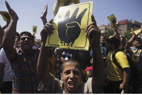 Muslim Brotherhood supporters in Cairo, Septe