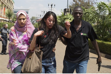 Woman evacuated from site of Nairobi attack