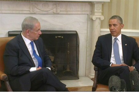 Obama and Netanyahu at Monday's meeting