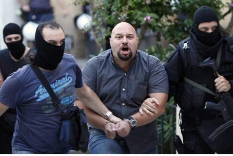 Golden Dawn lawmaker Ilias Panagiotaros is le