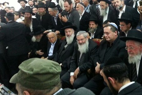 Rabbi Ben Dahan at the mourners tent