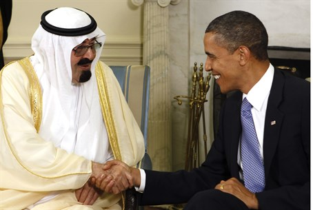 Saudi Arabia's King Abdullah with US Presiden