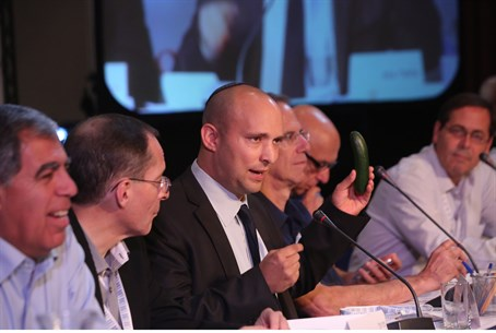 Naftali Bennett at the Caesarea Economic Conf