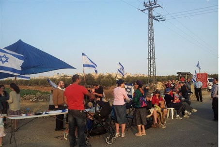 Vigil at Gush Etzion T-junction