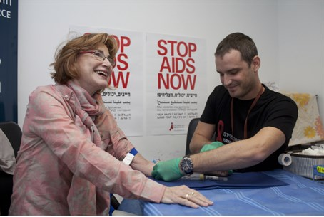 Yael German undergoes HIV screening in Knesse