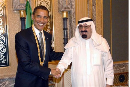 Obama and Saudi King Abdullah