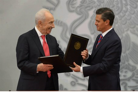 President Shimon Peres and Mexican President