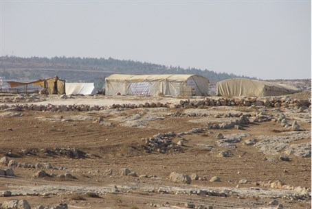 Illegal Arab settlement at Susya