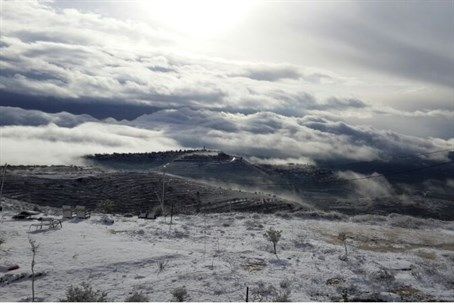 Snow in Eli, Central Samaria