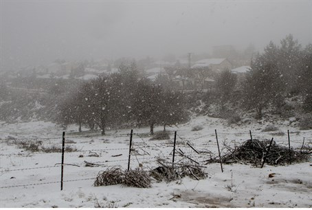 snow in northern Israel