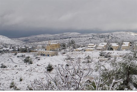 Samaria under a blanket of snow