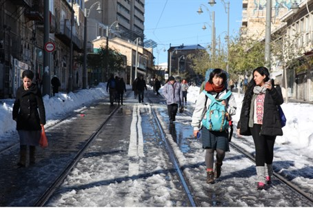 Business as usual? Jerusalem post-snowstorm,