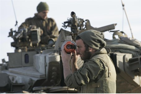 IDF soldier outside Gaza