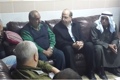 Yaalon visits grieving family in Rahat