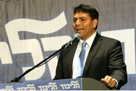 Danny Danon at Likud meeting