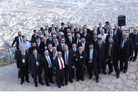 International delegation of rabbis in Samaria