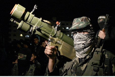 Hamas terrorist in Gaza City (file)