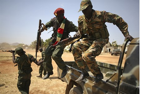 South Sudanese soldiers (file)