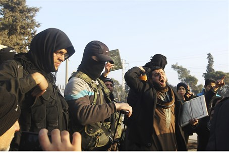 Fighters from the Islamic State in Iraq and t