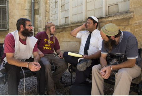 Itamar Ben-Gvir with Samaria residents (file)