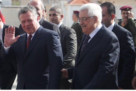 Abbas with King Abdullah II (illustrative)