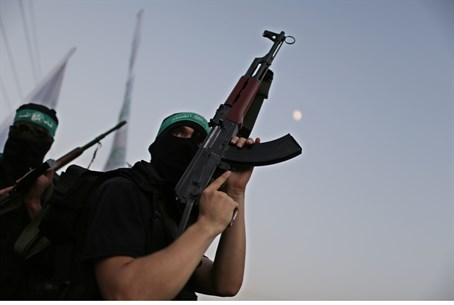 Hamas terrorists in Gaza City