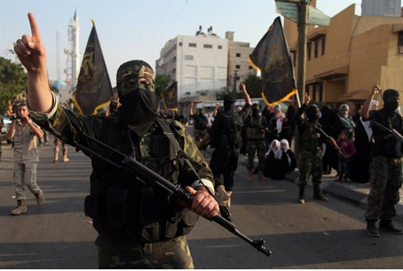 Al Qassam terrorists in Gaza