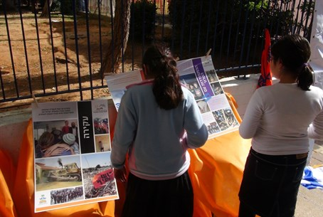 Children learn about Gush Katif - Gush Katif