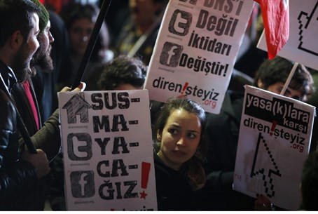 Anti-censorship protests, Istanbul, Feb 2014