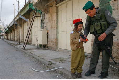 Child dressed as soldier (illustrative)