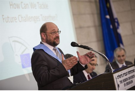 Martin Schulz at Hebrew University