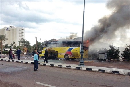 Aftermath of Taba bus explosion