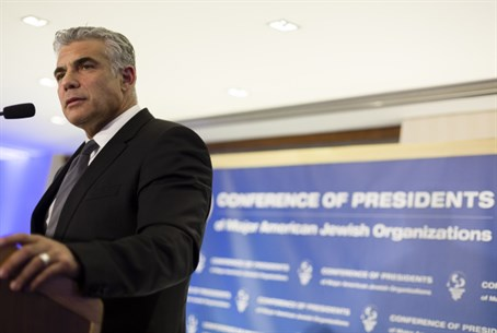 Lapid at the Conf. of Presidents
