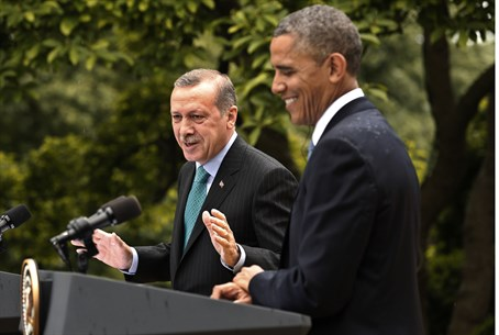 Obama and Erdogan (file)