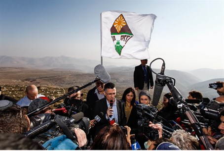 Sa'ar rallies for Jordan Valley (file)