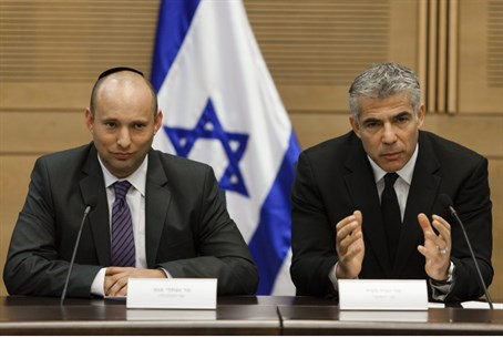 Lapid and Bennett (file)
