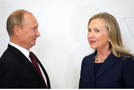 Clinton and Putin in 2012