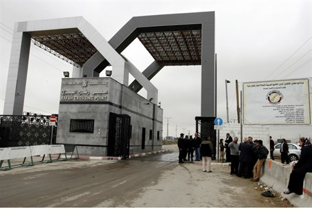Rafah crossing point, between Egypt and Gaza