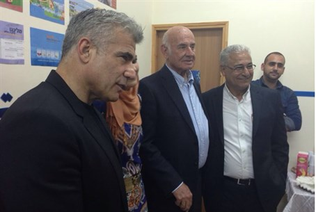 Perry and Lapid visit Sakhnin