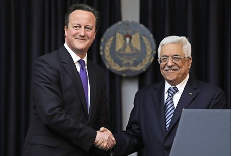 Cameron and Abbas meet in Bethlehem