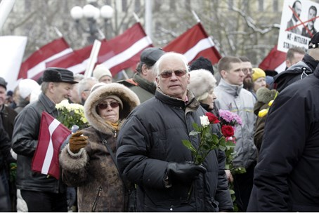 Annual procession commemorating the Latvian W