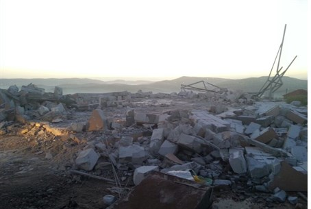 Demolished homes in Yitzhar
