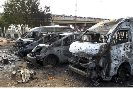 Aftermath of Nigerian bus bombing