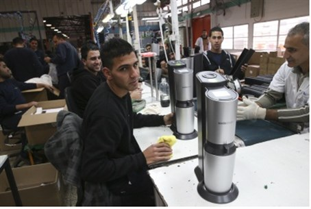 Arab workers at SodaStream plant