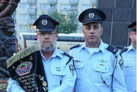 Israeli police officers in Warsaw
