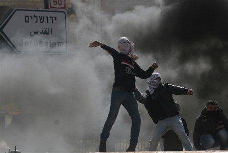 Stone throwing by Jerusalem