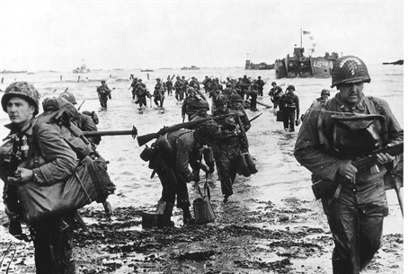 US forces during D Day landings