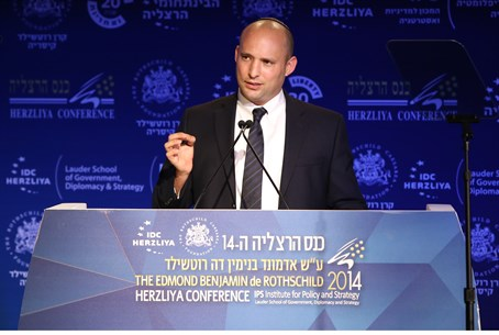 Minister Bennett at the Herzliya Conference