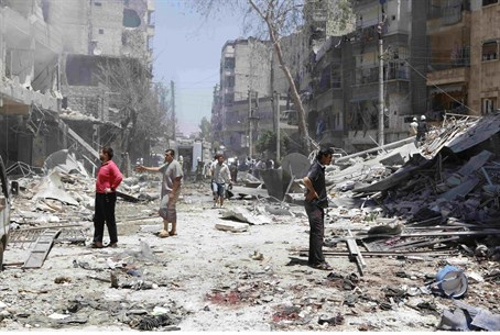 Assad regime using barrel bombs to devastating effect (file)