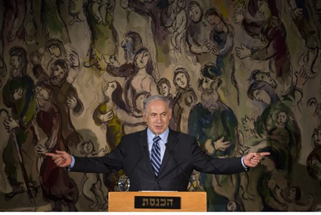 Netanyahu, addressing Jewish leaders at Joint